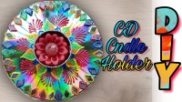 DIY CANDLE HOLDER USING RECYCLED CD, How to make Candle Holder