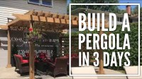 DIY Overview: A Pergola on Concrete Patio in 3 Days. Its ...