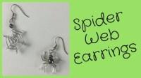 Spider Web Earrings Halloween DIY Jewelry Tutorial