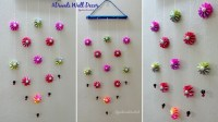 DIY wall decoration idea, how to make easy paper wall ...