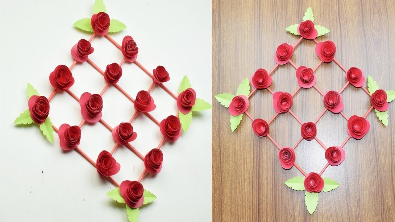 Diy Paper Flower Wall Hanging Wall Decoration Ideas Easy Iltribuno Com