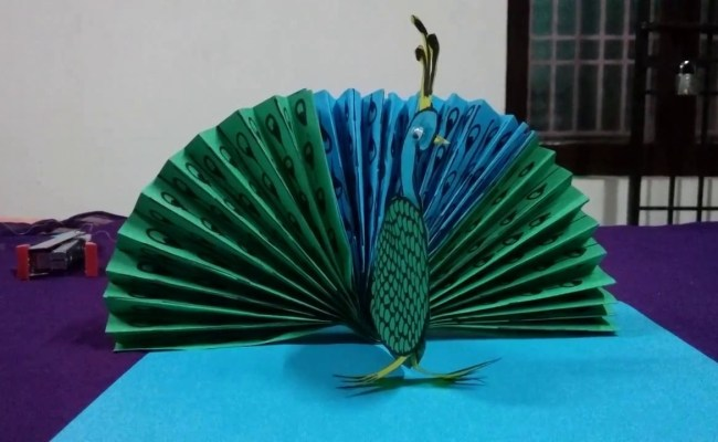 How To Make A Paper Peacock Origami Peacock Easy Peacock