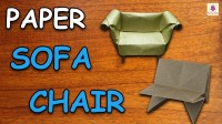 Learn How To Make Sofa Chair Using Paper, Origami For Kids ...