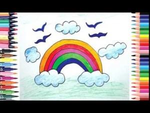 rainbow draw drawing easy children beginners step drawings paintingvalley diy