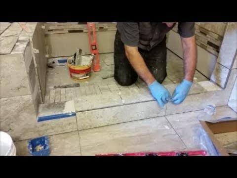 tile shower curb step by step diy