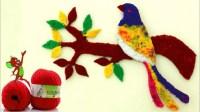 Handmade Wall Art Sparrow || DIY Woolen Bird || DIY Room ...