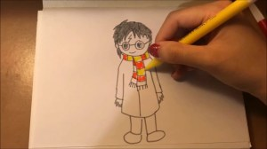 drawing simple potter harry easy draw chibi tutorial version