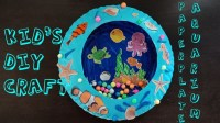 DIY LOVELY PAPER PLATE AQUARIUM TUTORIAL, KIDS ROOM DECOR ...