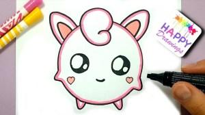 draw pokemon easy step jigglypuff drawings happy pikachu inspiration