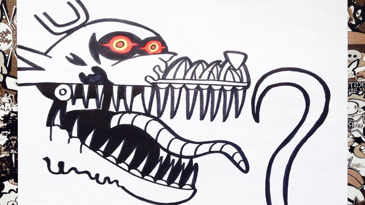 Como dibujar a nightmare foxy de five nights at freddys