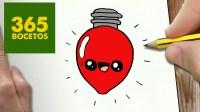 COMO DIBUJAR UN BOMBILLA PARA NAVIDAD PASO A PASO: Dibujos