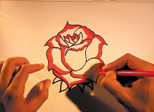 Como Dibujar Dibujos De Flores Faciles Hacer Rosas Imgurl