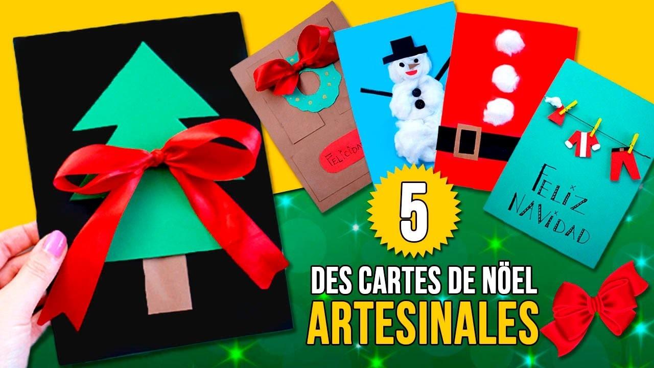5 DIY DES CARTES De NOL Pour Les Enfants Des CARTES