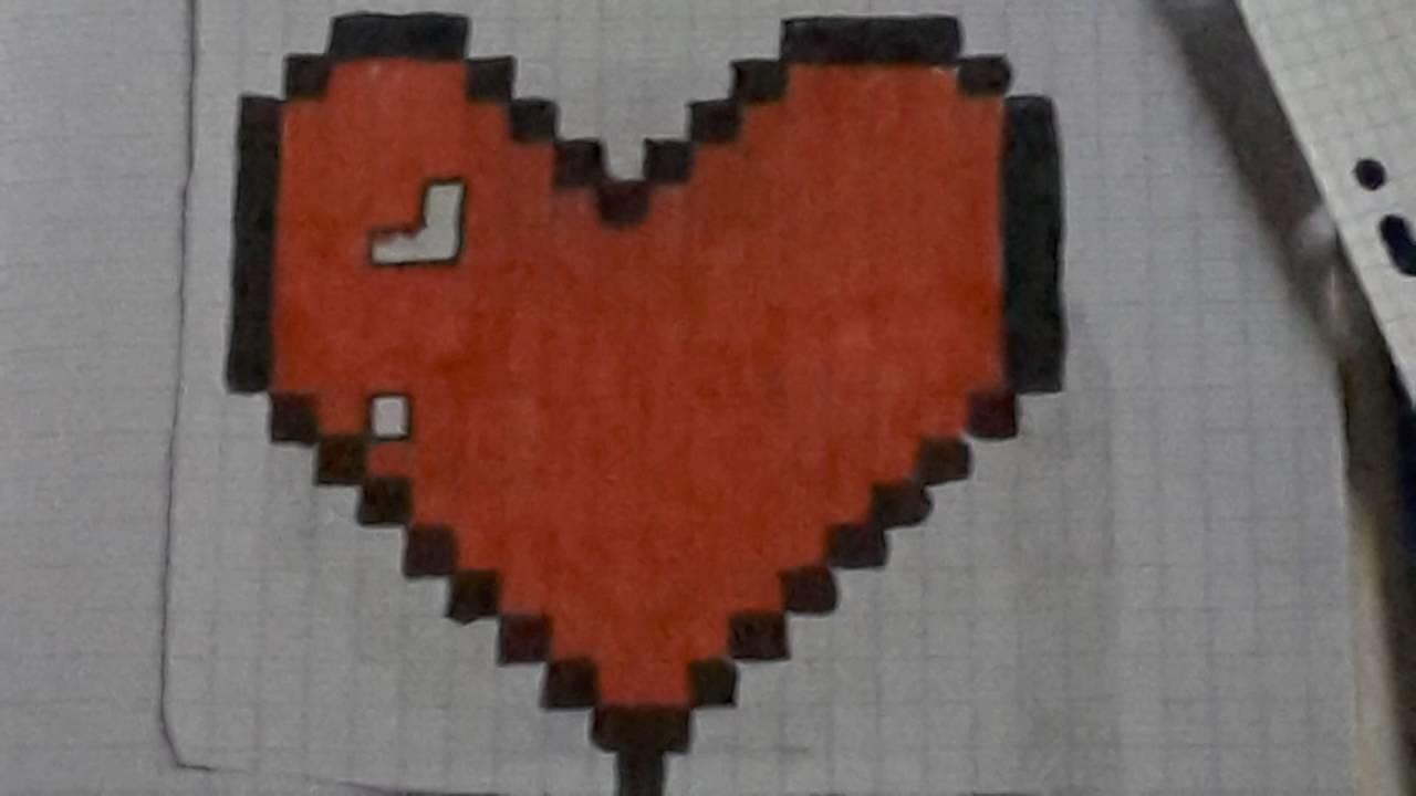 Coeur En Pixel Art