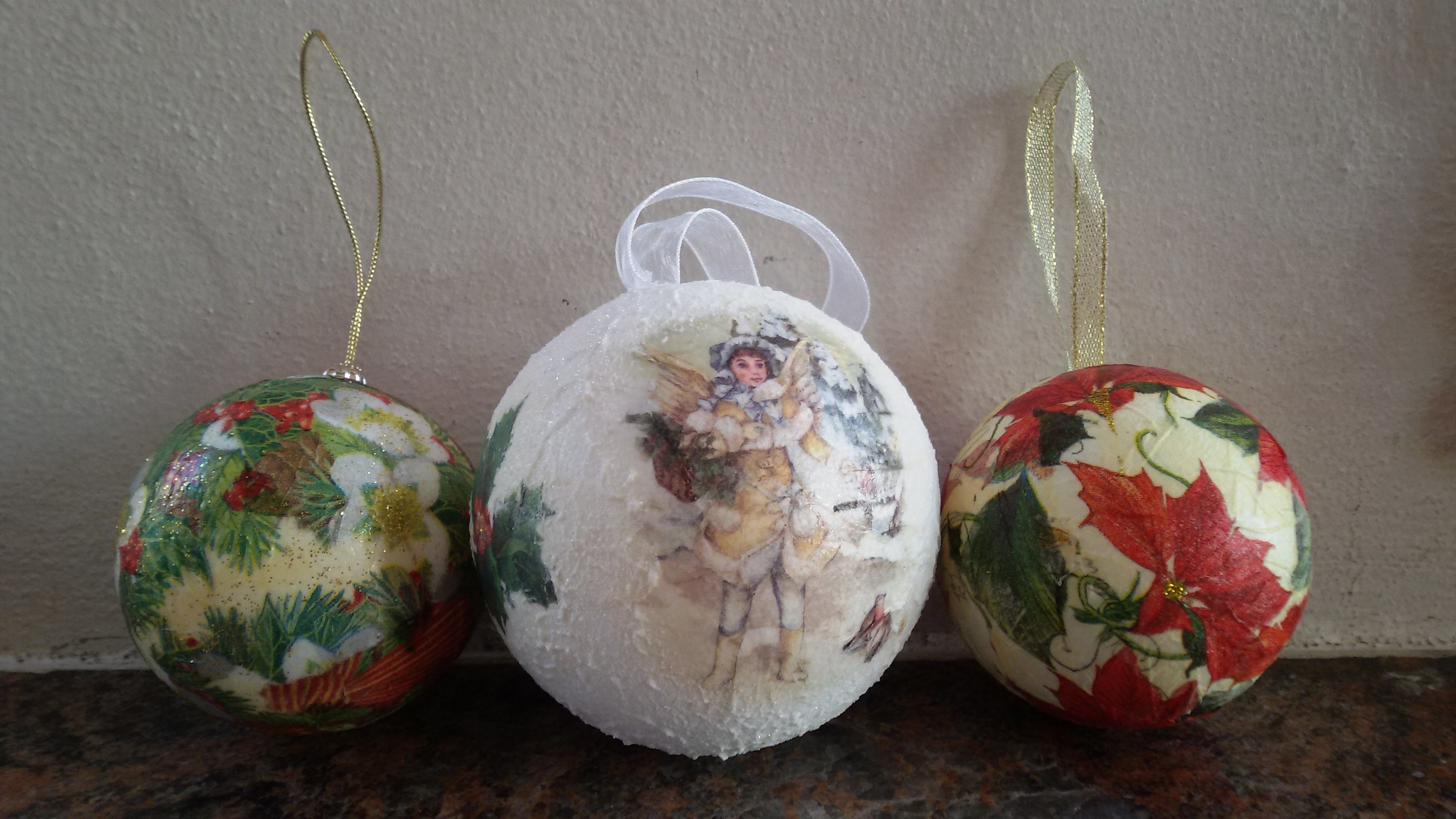 Tutorial sfere in polistirolo come decorazione per lalbero