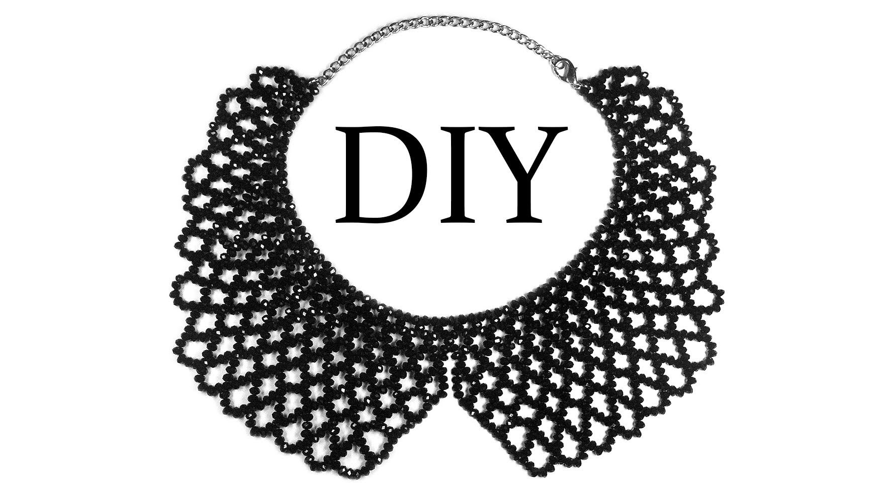 Diy How To Make Beaded Necklace Collar