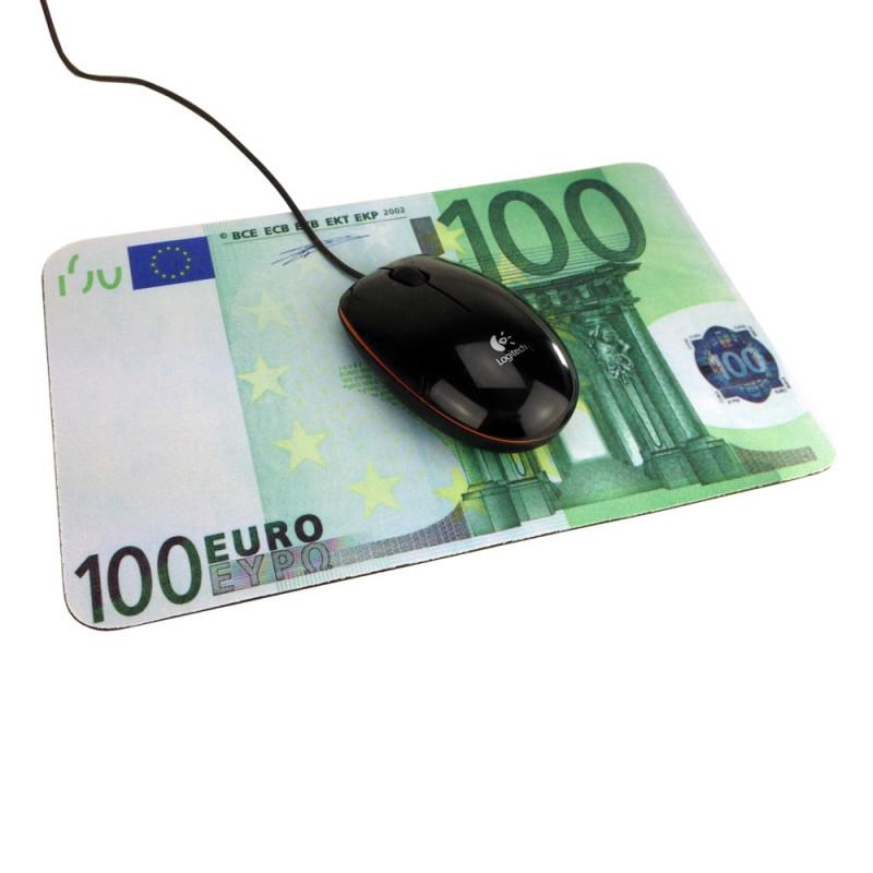 tapis souris billet de cent euros a 3 85