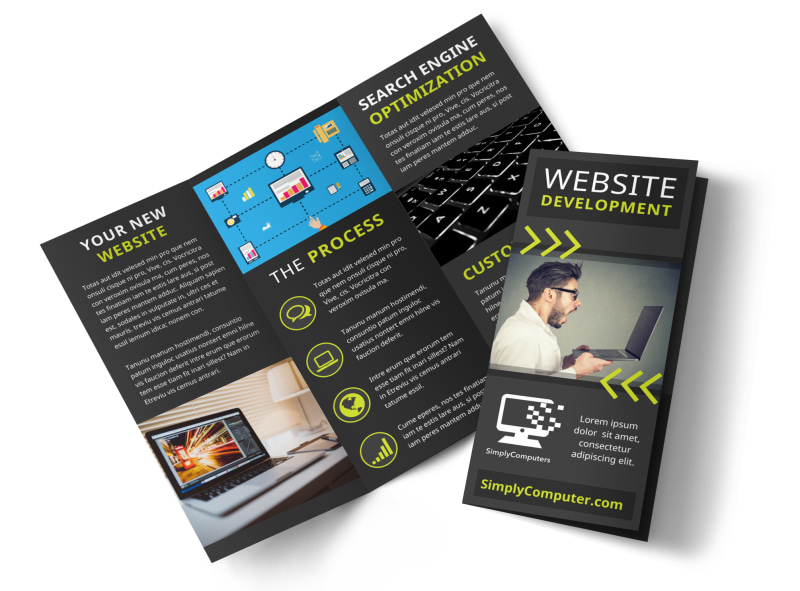 Web Development Brochure Template MyCreativeShop