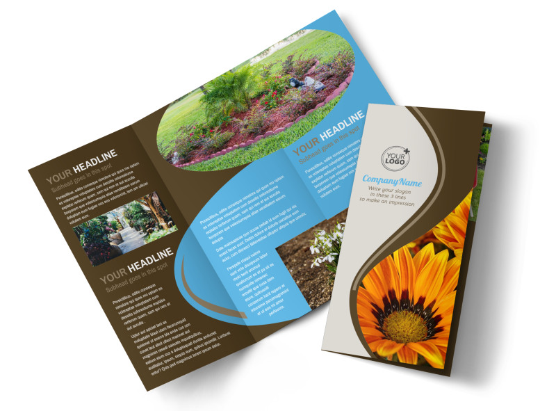 Outdoor Landscape Design Brochure Template MyCreativeShop