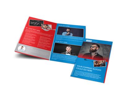 Downtown Barber Shop Brochure Template MyCreativeShop