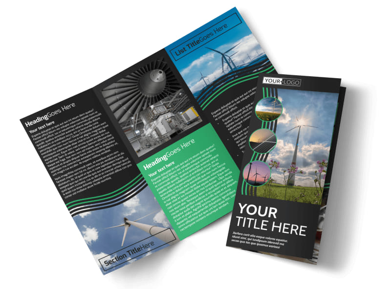Wind Turbine Brochure Template MyCreativeShop