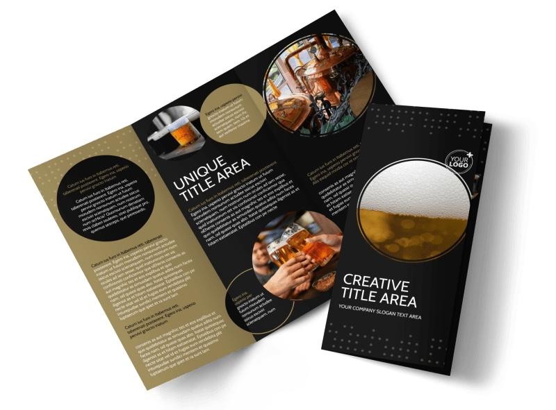 Craft Brewery Brochure Template MyCreativeShop