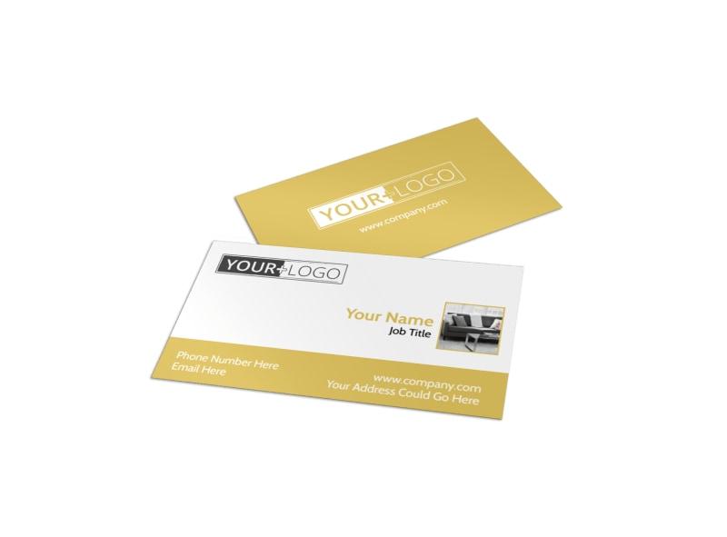 Furniture & Interior Design Business Card Template MyCreativeShop