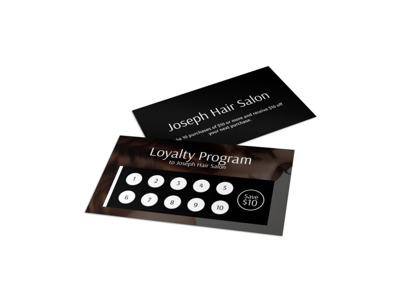 Joseph Hair Salon Loyalty Card Template MyCreativeShop