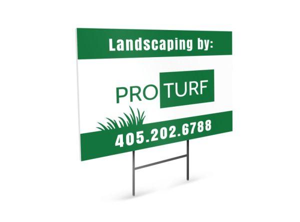 pro turf landscaping yard sign