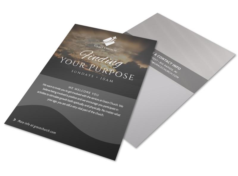 Finding Your Purpose Church Invitation Flyer Template | MyCreativeShop