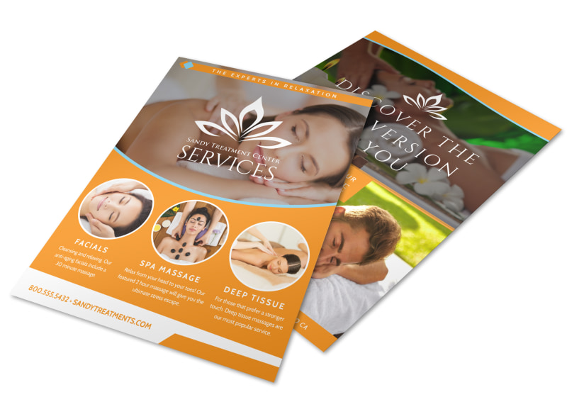Massage Services Offered Flyer Template MyCreativeShop