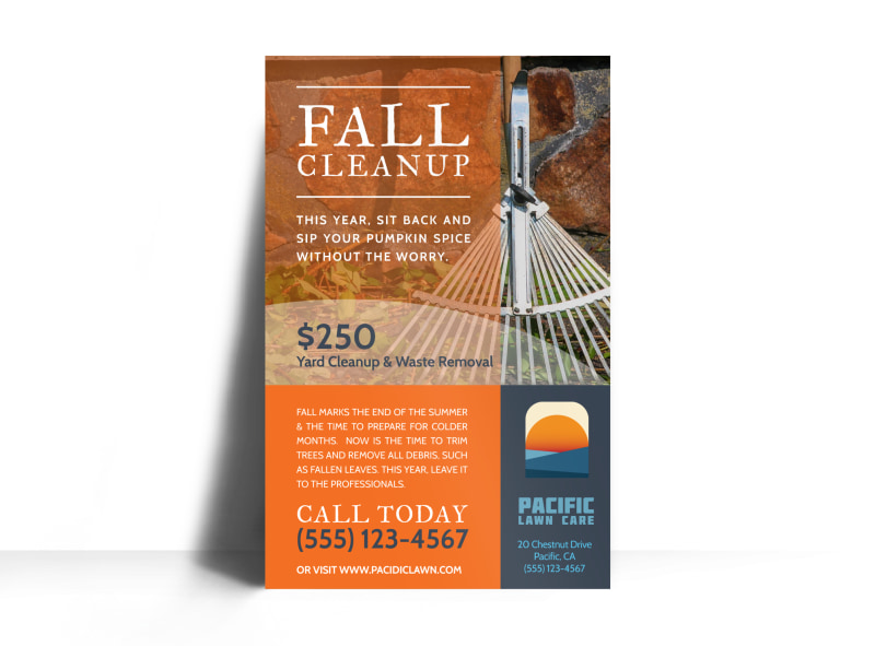 fall cleanup flyers