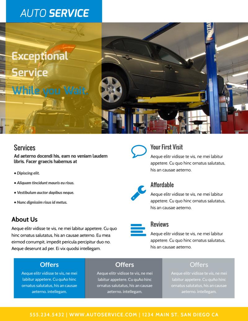 exceptional auto repair flyer