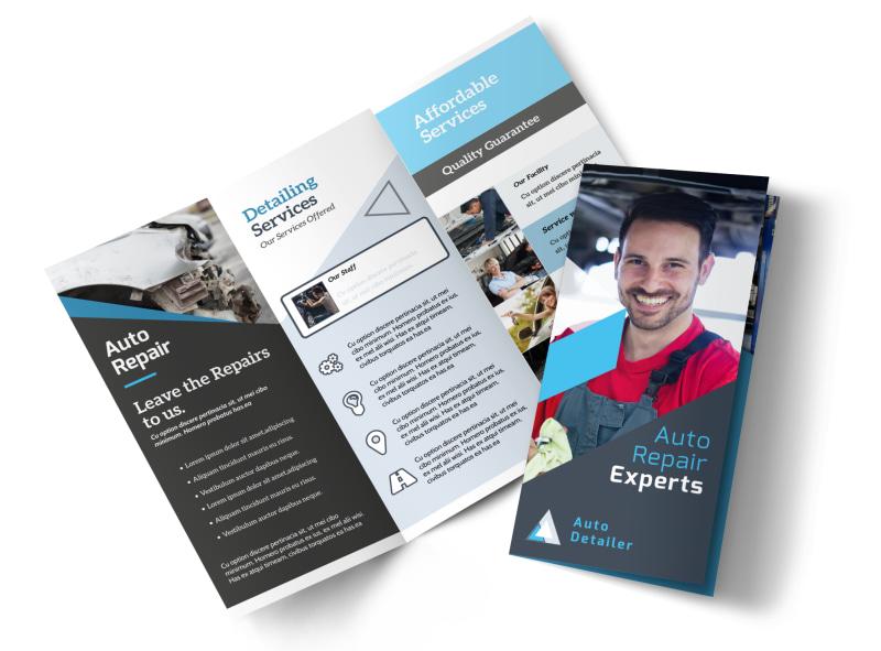 Auto Repair Experts Tri Fold Brochure Template