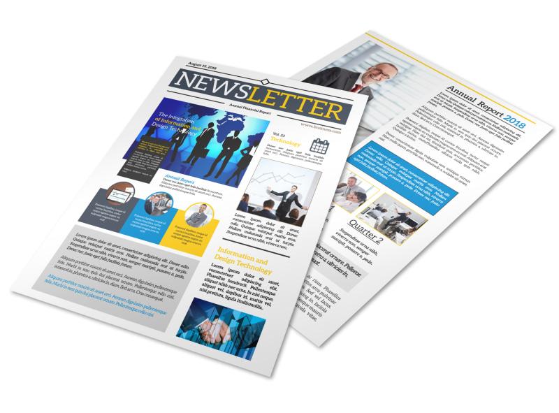 Professional Business Newsletter Template MyCreativeShop