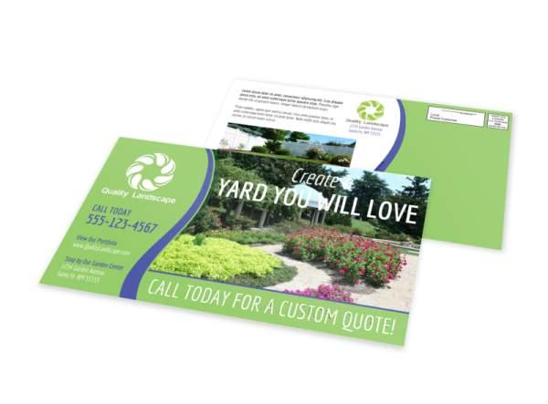 landscape & gardens eddm postcard