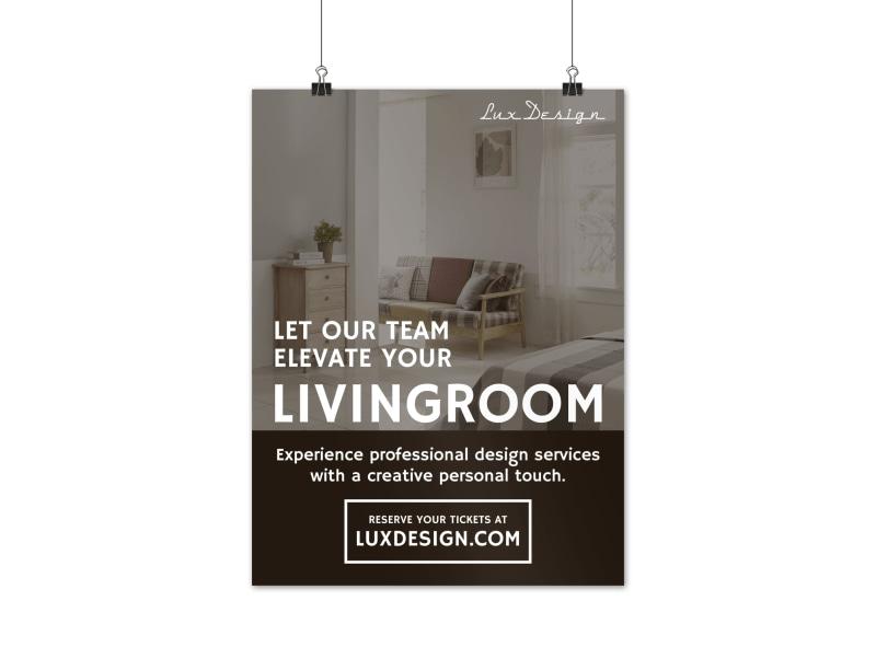 interior design poster template