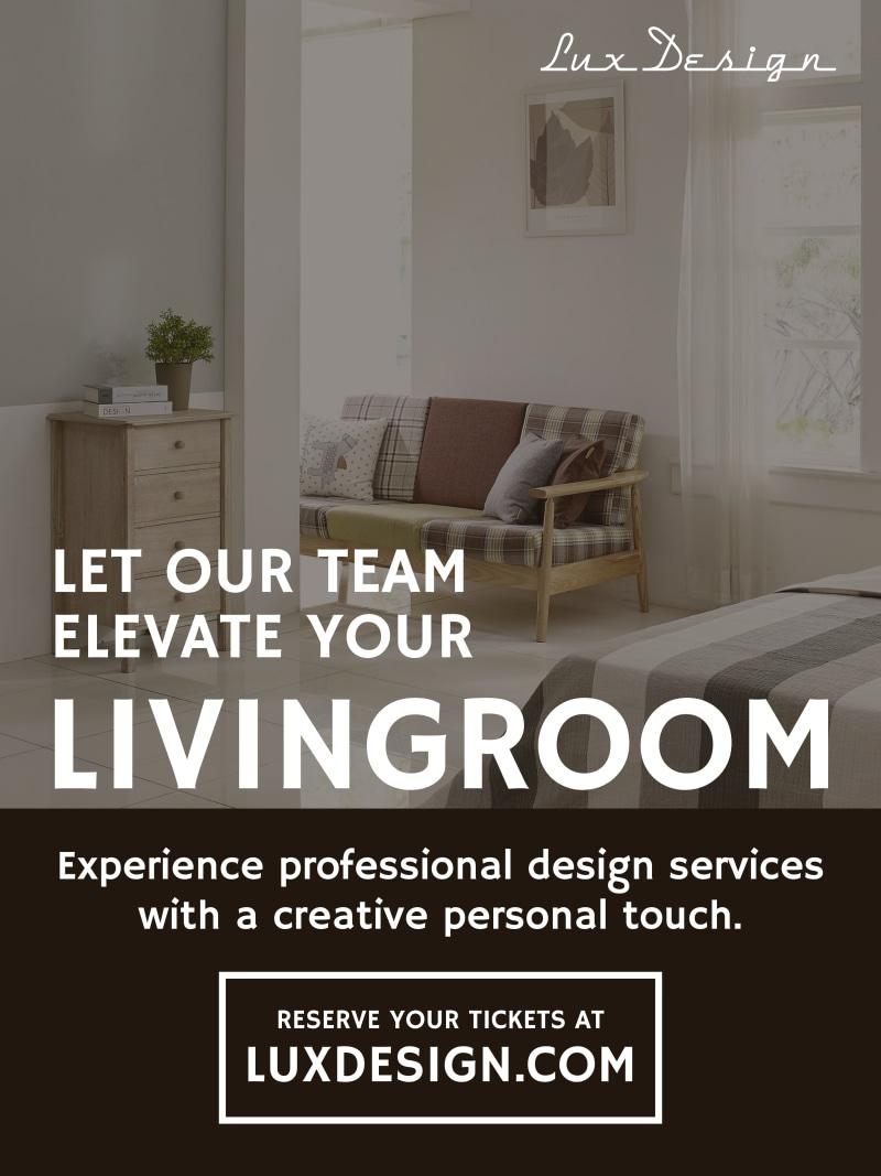 interior design poster template lakaran