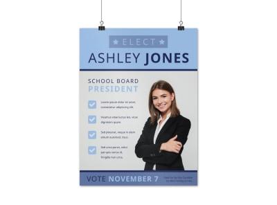 school board campaign poster