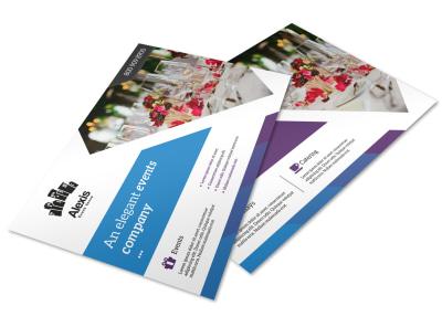 elegant event postcard template