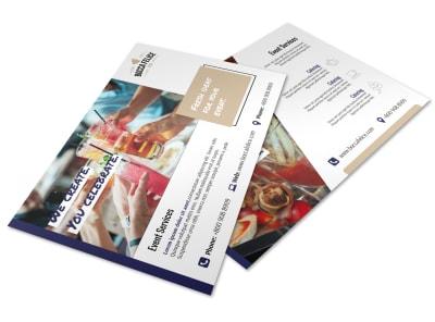 event services postcard template