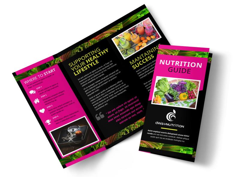 Health Nutrition Brochure Template MyCreativeShop