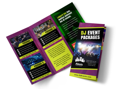 DJ Event Package Brochure Template MyCreativeShop
