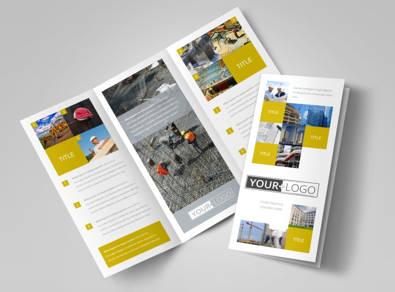 Commercial Construction Brochure Template MyCreativeShop