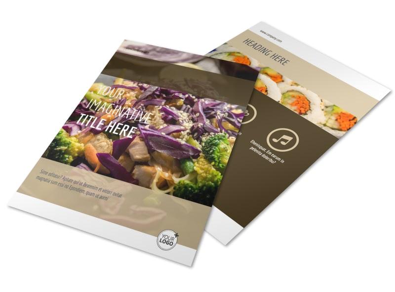 Asian Restaurant Brochure Template | MyCreativeShop