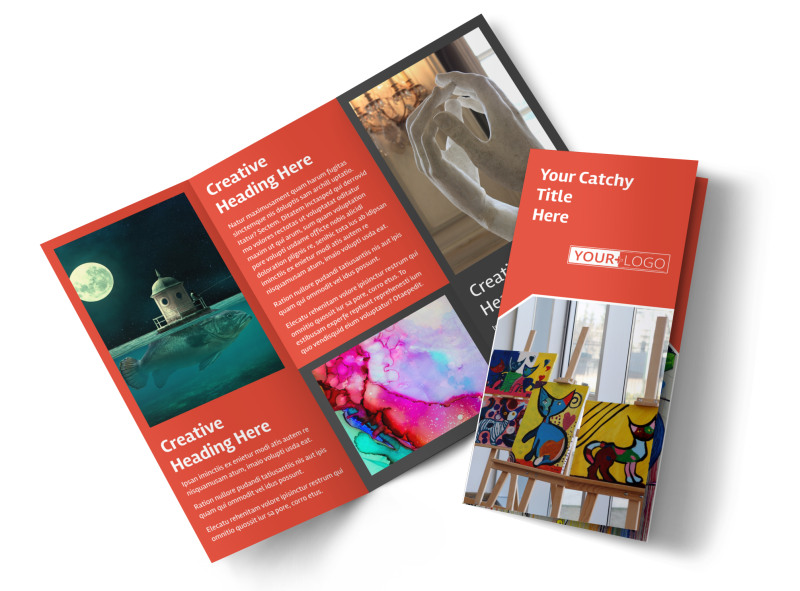 City Art Exhibition Brochure Template MyCreativeShop