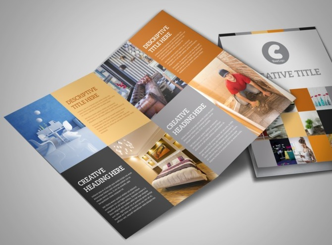 Interior Designer & Home Decor Business Brochure Templates