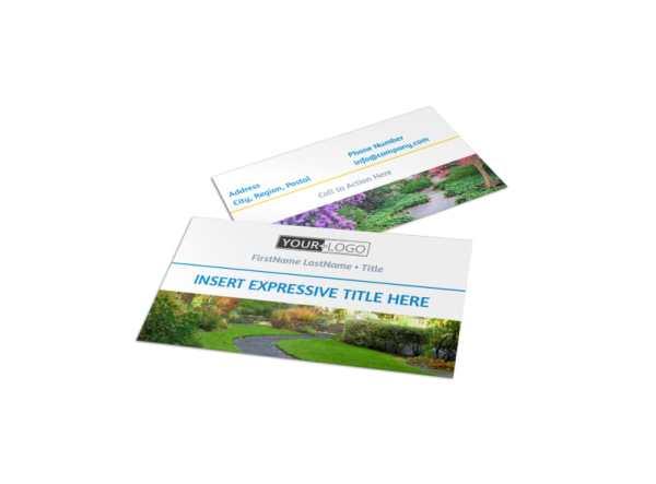 beautiful landscape business card