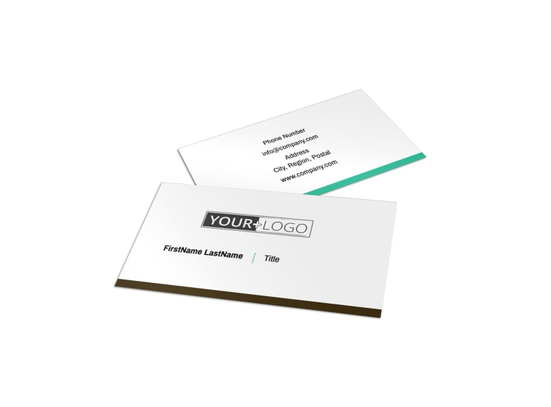 Financial Consultant Services Business Card Template