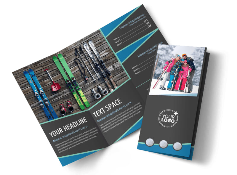Ski Resort Brochure Template MyCreativeShop